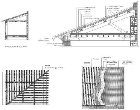 tettoie in legno dwg tetti in legno dwg roof dwg particolari costruttivi