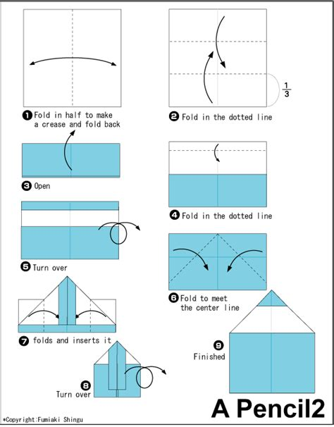 Cool Origami Step By Step - pencil 2 easy origami for