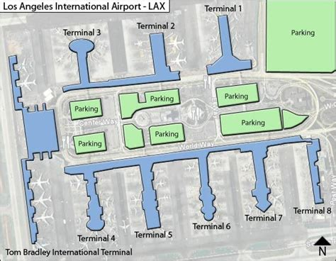 Los Angeles Terminal Map by Lax Los Angeles Airport Terminal Maps