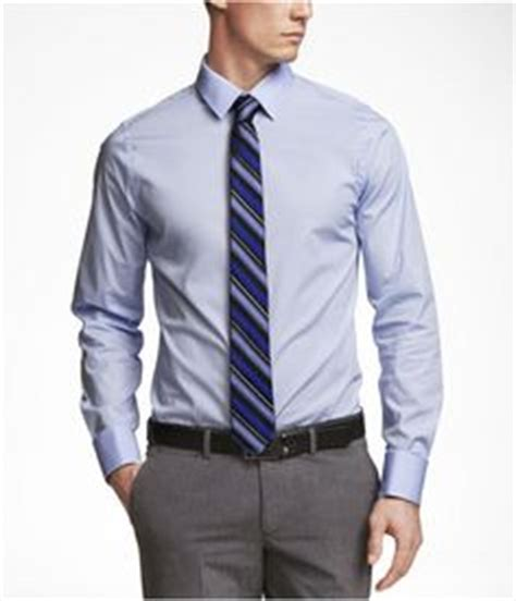 Combo Grey Black Kemeja Slim Fit Pakaian Katun Stretch gray striped dress shirt gray tie gray black belt
