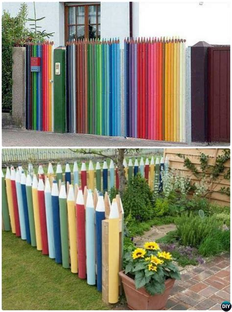 fence decorations backyard garden fence decoration makeover diy ideas