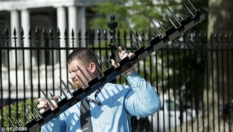 the secret behind the huge spike in new real estate secret service adds sharp steel spikes to white house