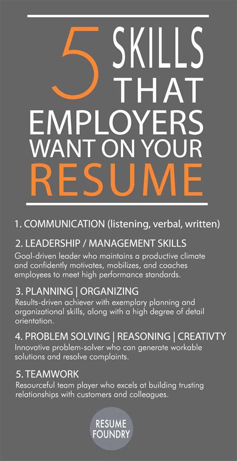 5 skills that employees want on your resume inspiration career search