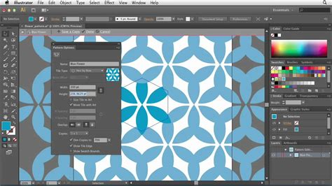 pattern maker photoshop cs6 illustrator cs6 using the pattern options tool lynda