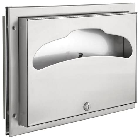 bradley partition mounted toilet seat cover dispenser