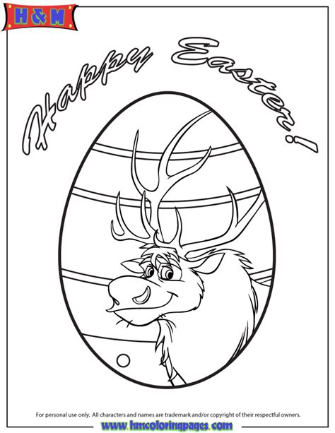 frozen coloring pages easter sven easter egg design coloring page h m coloring pages