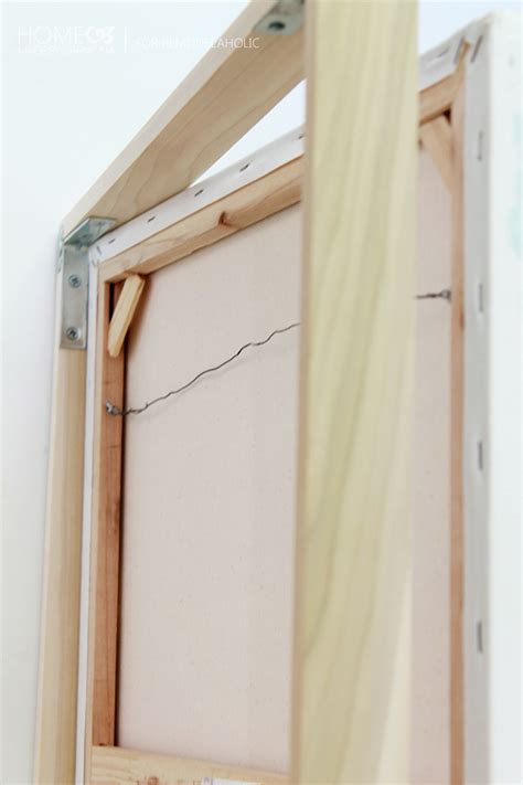 Custom Wooden Painting tutorial chic floating frame for a canvas remodelaholic