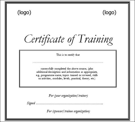 Basic Certificate Template free printable certificate template doc sle