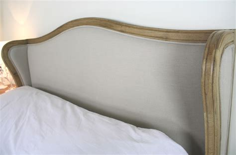 french upholstered headboards new solid oak king size 5ft upholstered french wing back bed