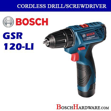 bosch cordless drill driver gsr120 li boschhardware