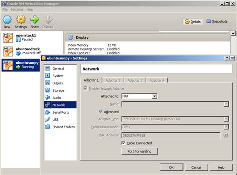configure network ubuntu server virtualbox windows 7 where is host only networks setting on