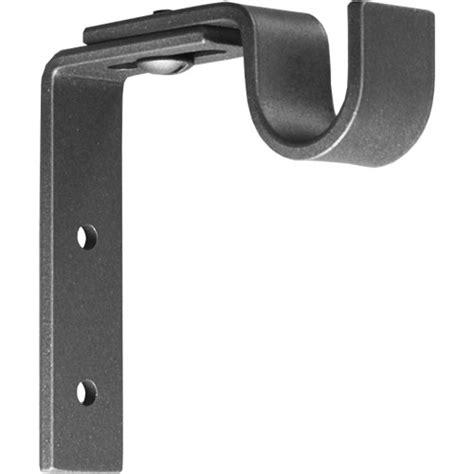 adjustable curtain pole brackets wood pole brackets ona drapery hardware