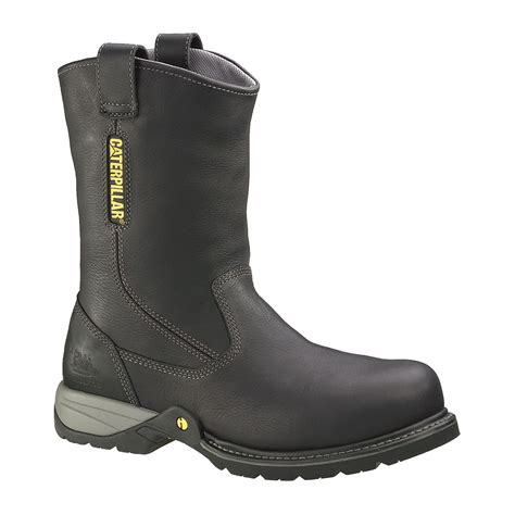 New Promo Sepatu Safety Boots Caterpillar Suede Sol Hitam Grosir 1 gladstone steel toe leather wellington boot find safety at sears