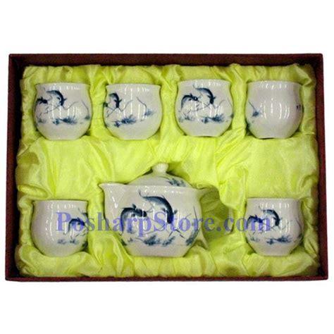 Rumauma Ceramic Tea Pot Set Wave Pattern picture of ceramic white teapot set