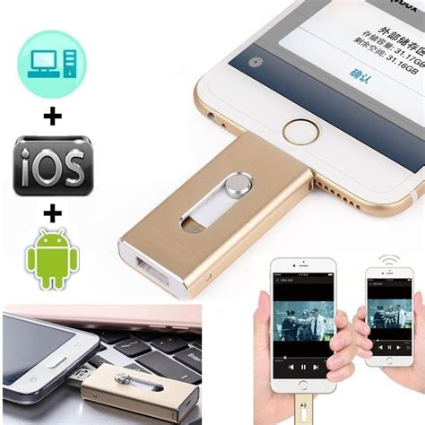 Usb Otg Untuk Iphone 128gb 64gb new otg dual usb memory i flash drive u disk