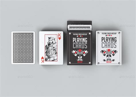 card deck mockup template free cards mock up by l5design graphicriver