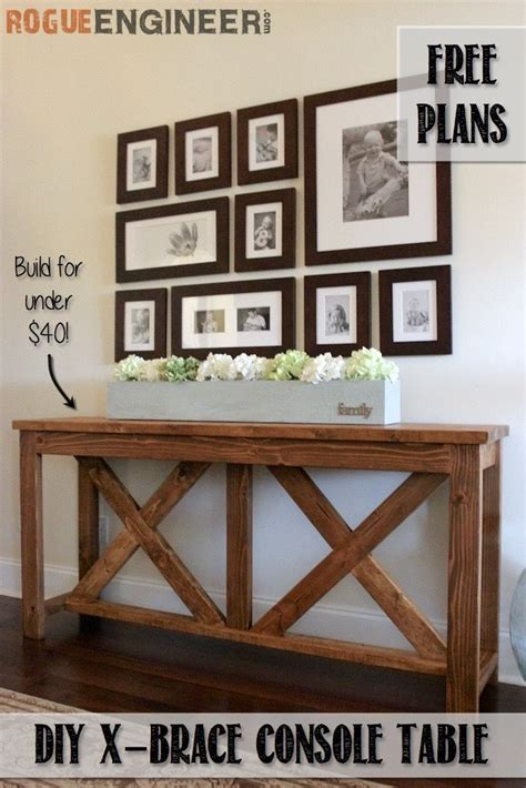 free sofa table plans 25 best ideas about hallway tables on entry