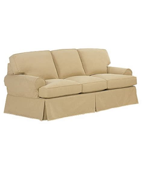 slipcovered pillow back sleeper sofa w rolled arms