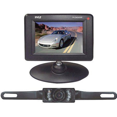 """pyle audio 3.5"""" monitor wireless back up rearview and"""