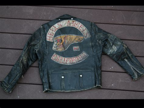 buy biker hells angels leather jacket gang colors biker gangs