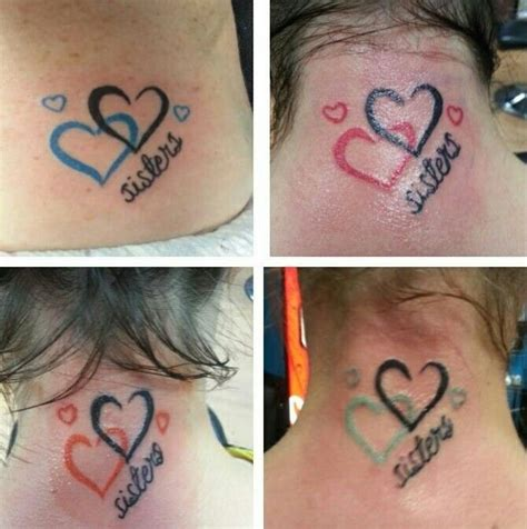 sister heart tattoos 25 best ideas about on 3