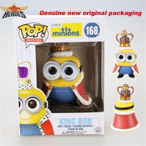 Pop Minions King Bob Vinyl Figure 2015 new genuine brand funko pop despicable me 2 minions king bob doll figure pop