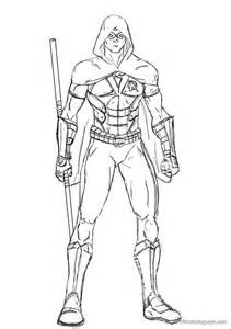 Red Robin And Nightwing Coloring Pages Coloring Pages