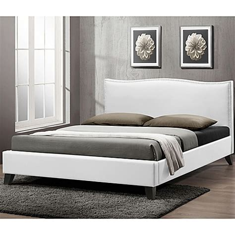 bed bath beyond headboard buy battersby designer queen bed with upholstered