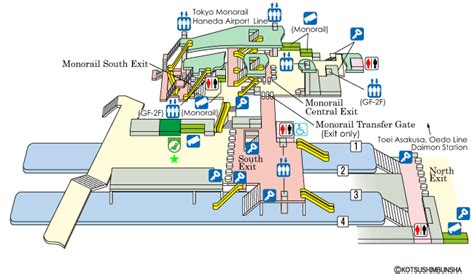 Bus Floor Plans by Jr East Guide Maps For Major Stations Hamamatsucho Station