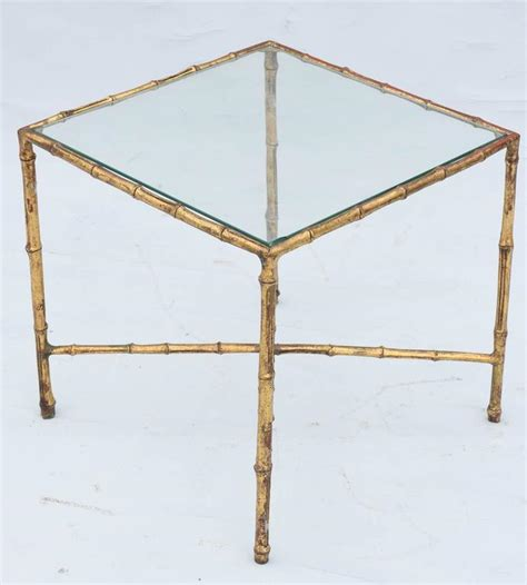 bamboo accent table gilded iron faux bamboo accent table at 1stdibs