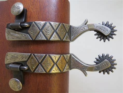 Handmade Spurs For Sale - 9089 new handmade mike bednorz mounted spurs