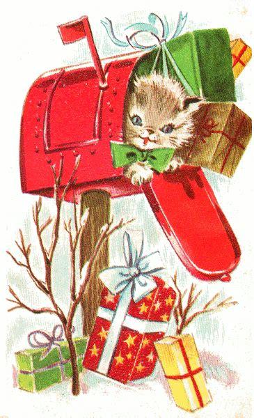cat mailbox holiday holidaychristmasanimalscatmailboxholidaypnghtml