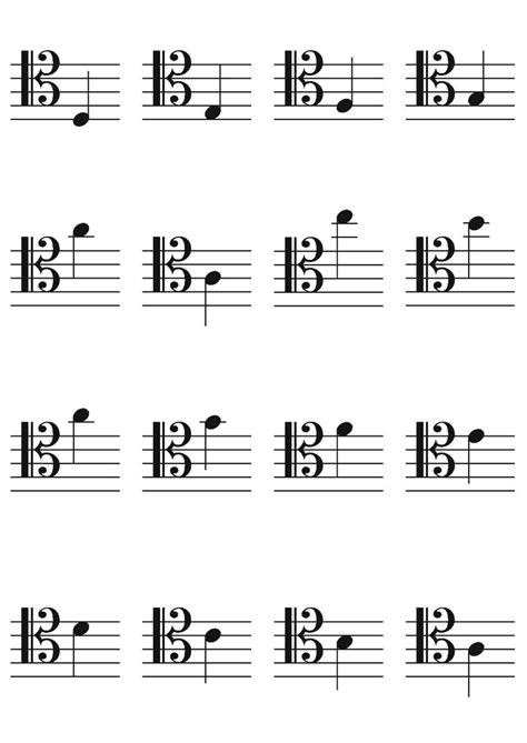 free printable music notes flash cards bass and treble alto and tenor clef flashcards music pinterest flashcard