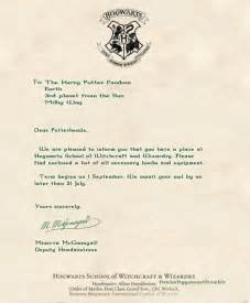 Acceptance Letter To Hogwarts Hogwarts Acceptance Letter Mischief Managed