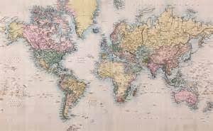 Vintage World Maps by Wall Mural Vintage World Map Photo Wallpaper Retro