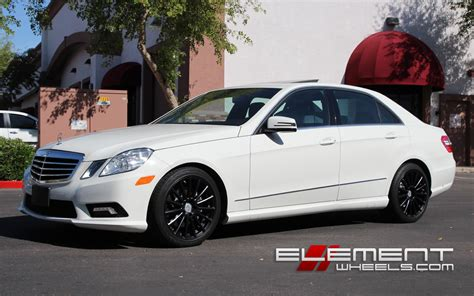 mercedes e350 rims white mercedes e350 with black rims