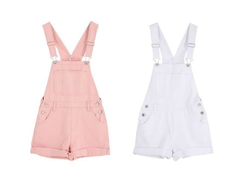 Pinkan Overal pink white denim overalls on storenvy