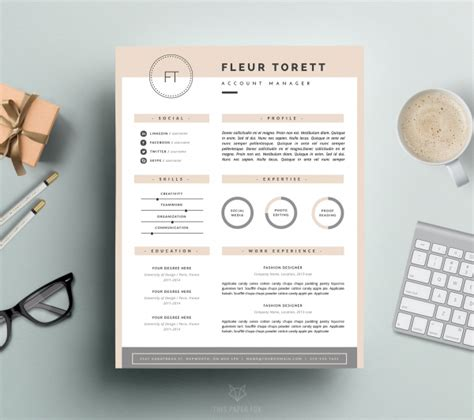 resume template cover letter ms word p