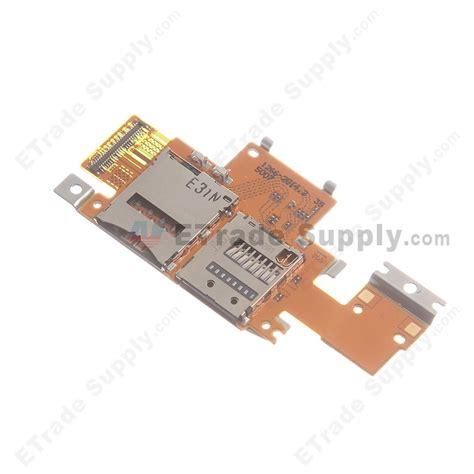 Flexibel Konektor Simcard Sony M600 sony xperia tablet z sim and sd card reader contact flex etrade supply