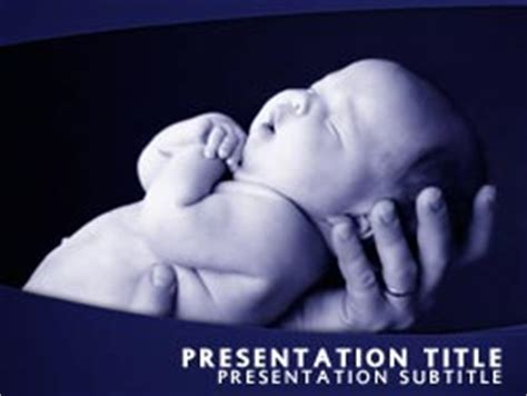 Royalty Free New Born Baby Powerpoint Template In Blue Free Baby Powerpoint Templates