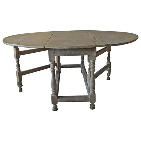 Oak Oval Dining Table Large Antique Limed Oak Or Oval Dining Table 18th Century For Sale At 1stdibs