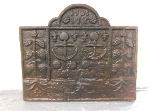 Cast Iron Fireplace Back by Cast Iron Back With Anchor Design Authentic
