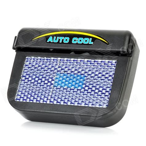 Pendingin Mobil Auto Cool Solar Powered Air Ventilation Unik solar powered car auto cool air vent cooling fan black free shipping dealextreme
