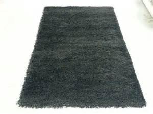 black plain ultra shaggy rug small 60x110cm simplay rugs
