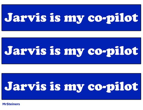is my copilot jarvis is my co pilot sticker by mrsteiners on deviantart
