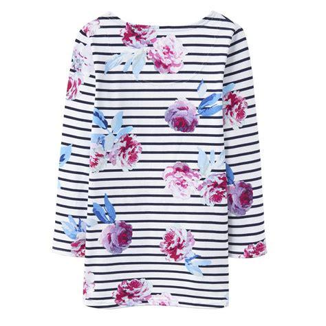 T Shirt Highest Box Flower tom joule navy stripes pink flowers top