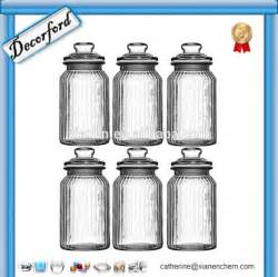 Glass Kitchen Canisters Airtight Wholesale Bulk Airtight Ribbed Airtight Kitchen Glass