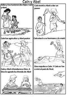 bible story coloring pages in spanish 1000 images about cain abel on pinterest cain and