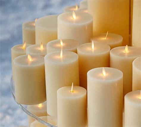luminara christmas tree strand candles premium flickering flameless wax candle ivory pottery barn