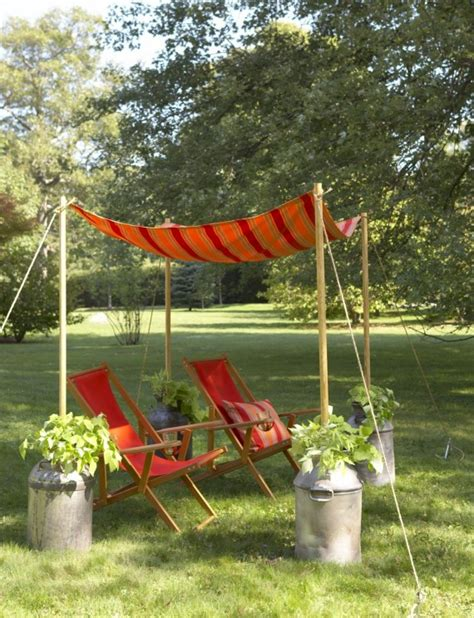 How To Make An Outdoor Canopy How To Make A Garden Canopy Diy Projects Bright Bold And